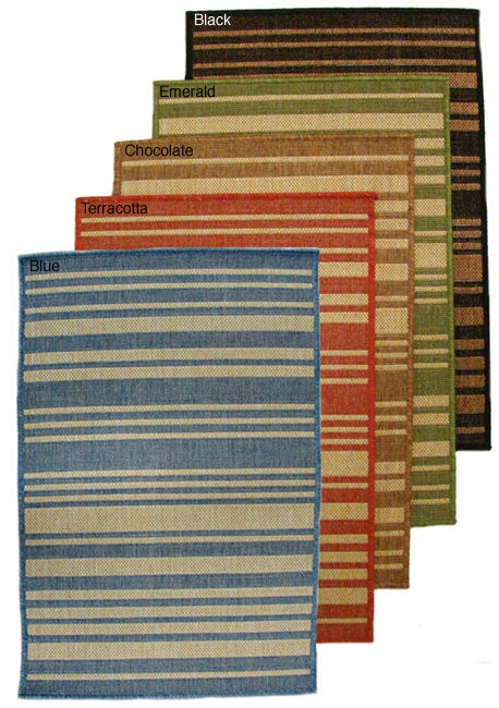 Barcode Indoor/ Outdoor Area Rug (5'3 x 7'6) - Thumbnail 0