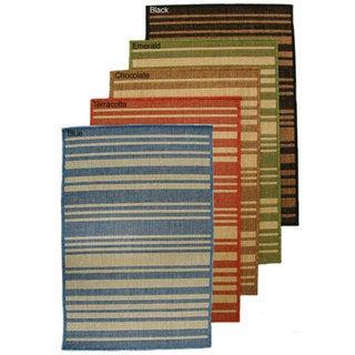 Indoor/ Outdoor Multi-color Rug (7'1 x 11'2)