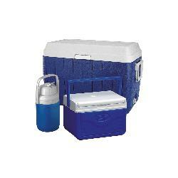 Coleman Three-piece Blue Insulated Cooler Set with Hinged Lids
