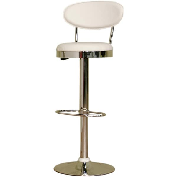 "Modern Metal and Plastic 24-32"" Adjustable Bar Stool by Baxton Studio"