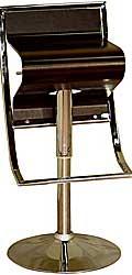 "Modern Brown 26-35"" Adjustable Bar Stool by Baxton Studio"