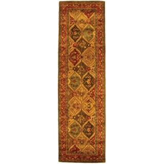 Safavieh Handmade Heritage Traditional Kerman Burgundy Wool Runner (2'3 x 14')