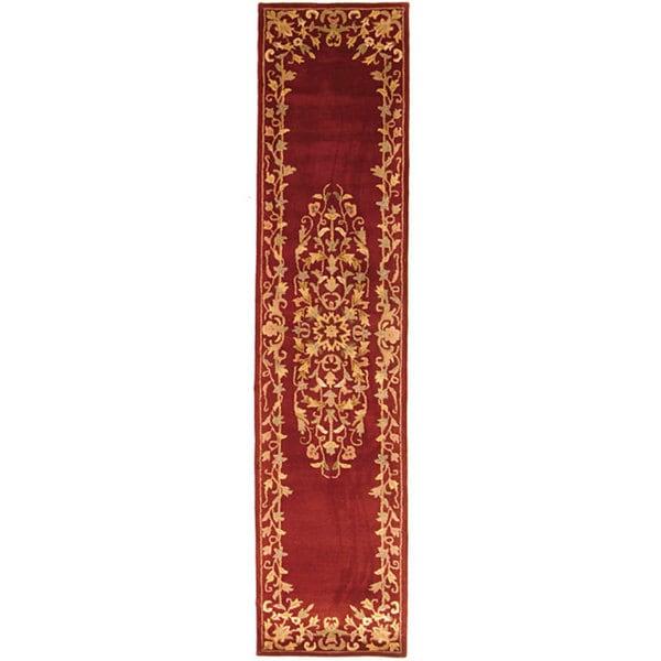 Safavieh Handmade Heritage Timeless Traditional Red Wool Runner (2'3 x 14')
