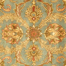 Safavieh Handmade Heritage Timeless Traditional Blue/ Beige Wool Rug (6' Square)
