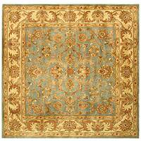 Safavieh Handmade Heritage Timeless Traditional Blue/ Beige Wool Rug - 6' x 6' Square