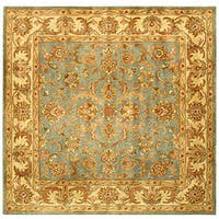 Safavieh Handmade Heritage Timeless Traditional Blue/ Beige Wool Rug - 8' x 8' Square