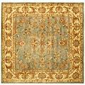 Safavieh Handmade Heritage Timeless Traditional Blue/ Beige Wool Rug - 8' x 8' Square