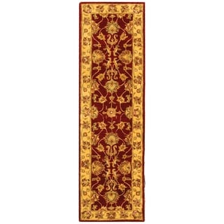 Safavieh Handmade Heritage Traditional Kerman Red/ Gold Wool Runner (2'3 x 4')