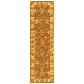 Safavieh Handmade Heritage Traditional Kerman Brown/ Ivory Wool Runner (2'3 x 4')