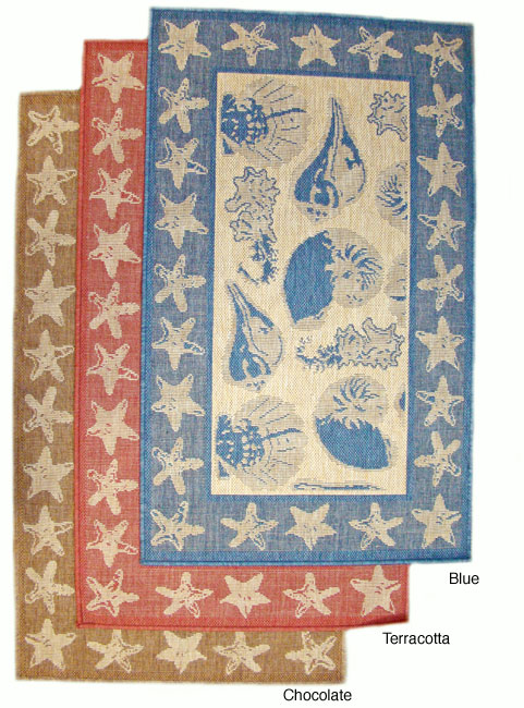 By The Sea Indoor/ Outdoor Area Rug (5'3 x 7'6) - Thumbnail 0