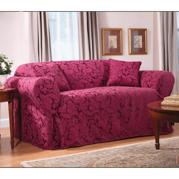 Sure Fit Scroll Sofa Slipcover 11886624 Overstock Com