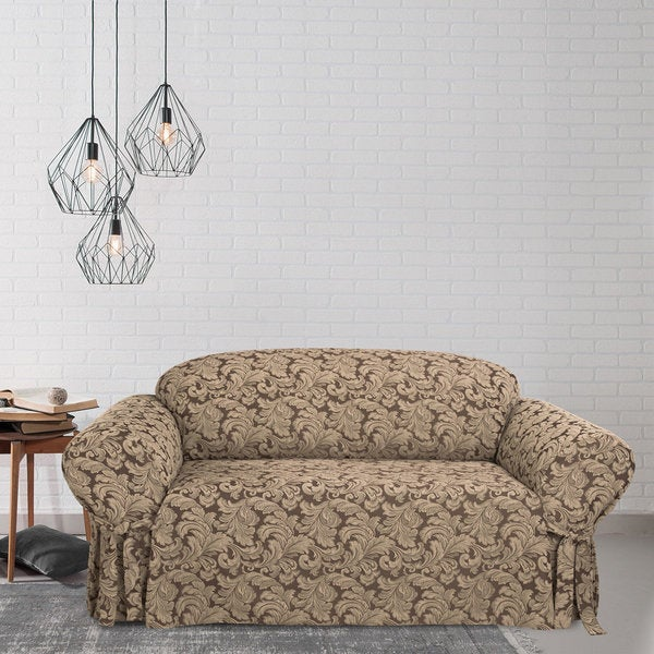 Scroll Sofa Slipcover Free Shipping Today Overstock