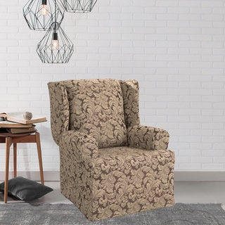 Sure Fit Scroll Wing Chair Slipcover (2 options available)