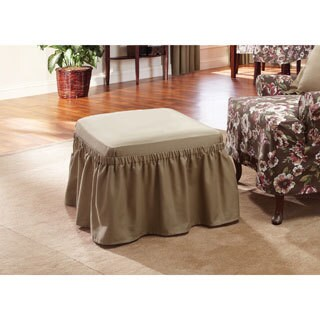 Sure Fit Cotton Classic Ottoman Slipcover