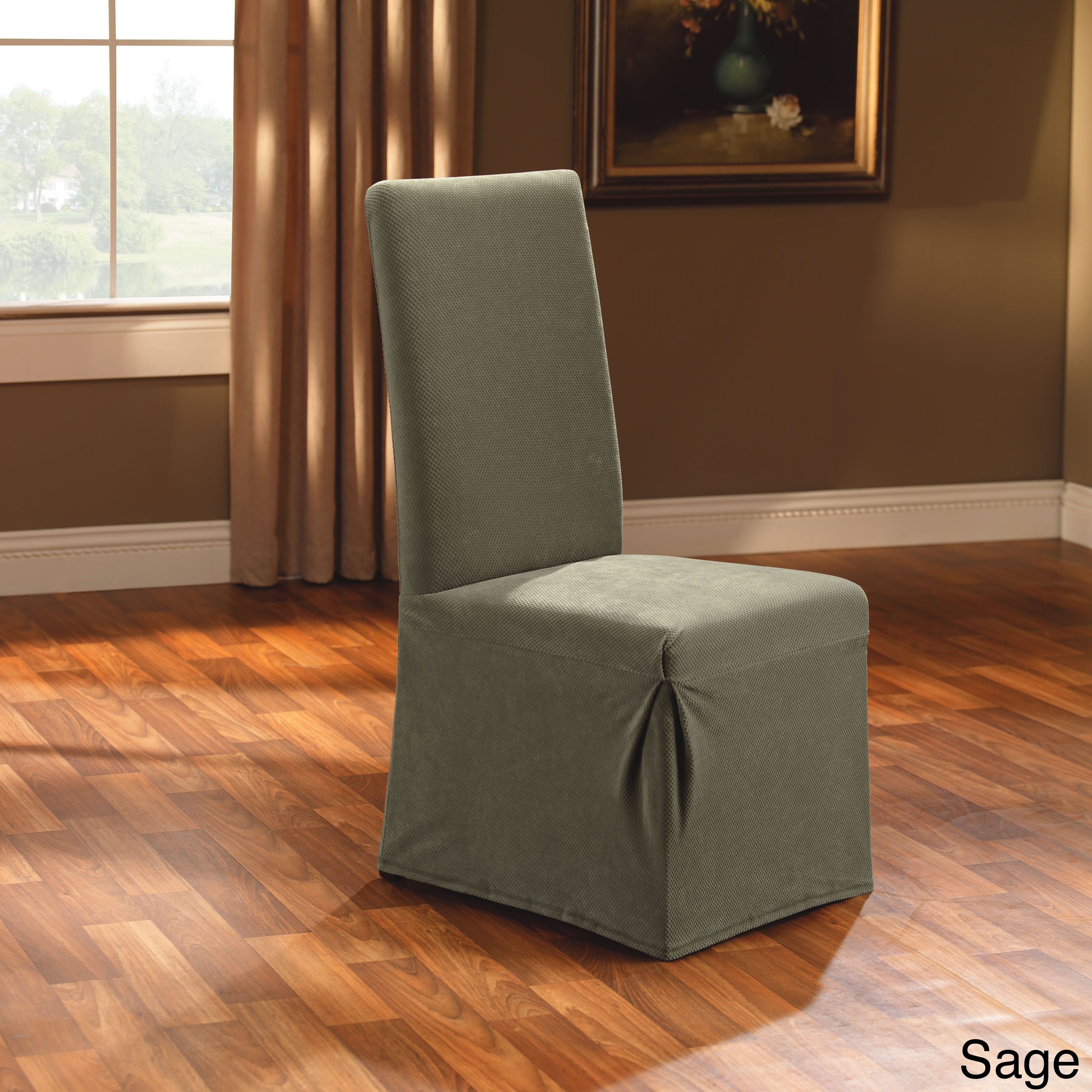 Image of: Shop Black Friday Deals On Stretch Dining Room Chair Slipcover Overstock 3830592