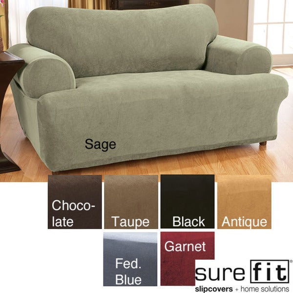 Sure Fit Stretch Waffle T-cushion Sofa Slipcover