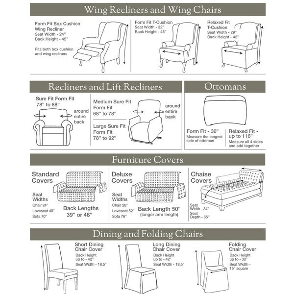 sure fit royal diamond recliner stretch slipcover free shipping today
