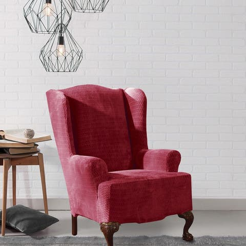Buy Red Sure Fit Recliner Covers Amp Wing Chair Slipcovers Online At Overstock Our