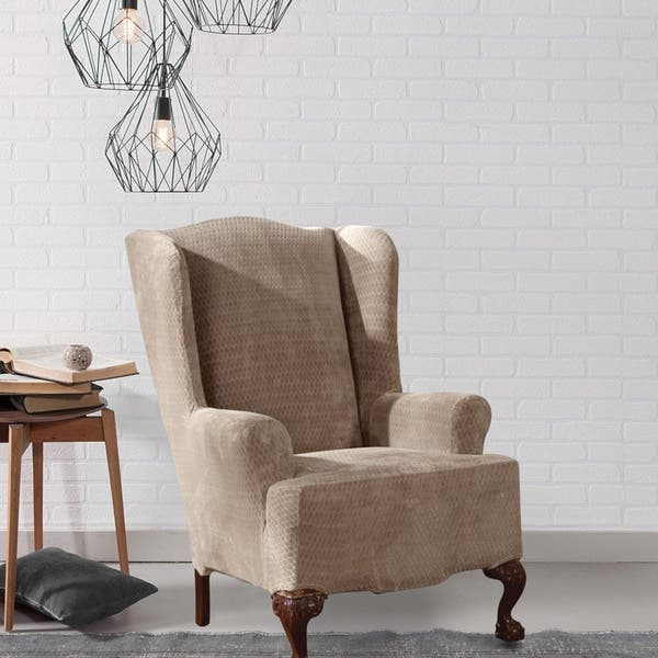 Stupendous Shop Sure Fit Royal Diamond Stretch Wing Chair Slipcover Gmtry Best Dining Table And Chair Ideas Images Gmtryco