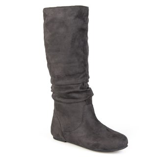 Journee Collection Women's Rebecca-12 Microsuede Slouch Knee-high Boot (More options available)