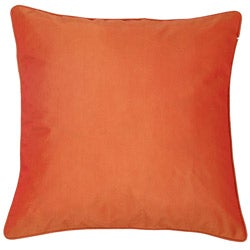 Decorative Floral Swirls Orange/ Red Cushion Cover