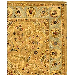 Safavieh Handmade Classic Heirloom Beige Wool Rug (9'6 x 13'6) - Thumbnail 2