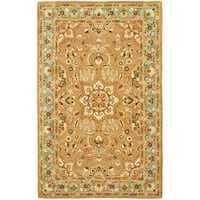 Safavieh Handmade Classic Heirloom Beige Wool Rug - 6' x 9'