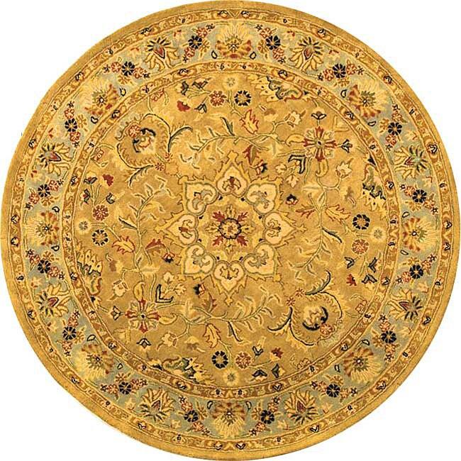 Safavieh Handmade Classic Heirloom Beige Wool Rug - 6' x 6' Round