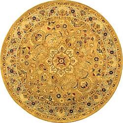 Safavieh Handmade Classic Heirloom Beige Wool Rug - 6' x 6' Round - Thumbnail 0