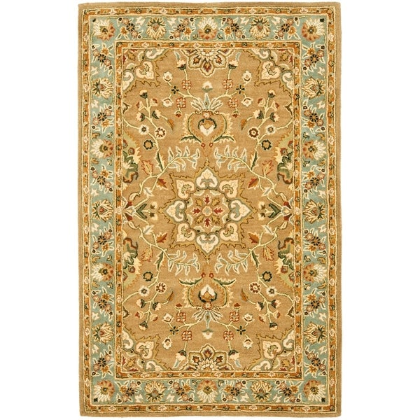 "Safavieh Handmade Classic Heirloom Beige Wool Rug - 7'-6"" x 9'-6"""