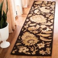 "Safavieh Handmade Classic Paisley Brown Wool Rug - 9'6"" x 13'6"""