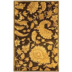 Safavieh Handmade Classic Paisley Brown Wool Rug (3' x 5')