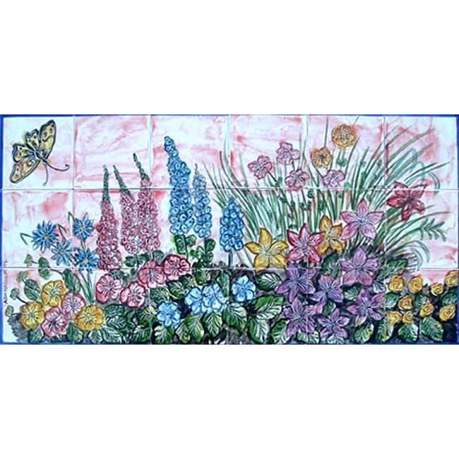 garden art decor 18 tile ceramic wall mural free italian ceramic tile wall murals google search