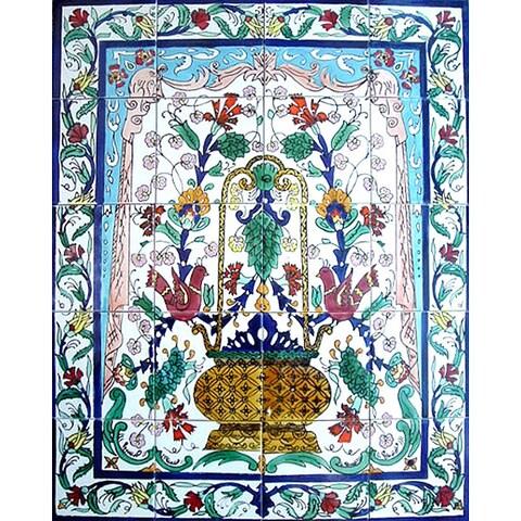 Mosaic Garden Decor 20-tile Ceramic Wall Mural