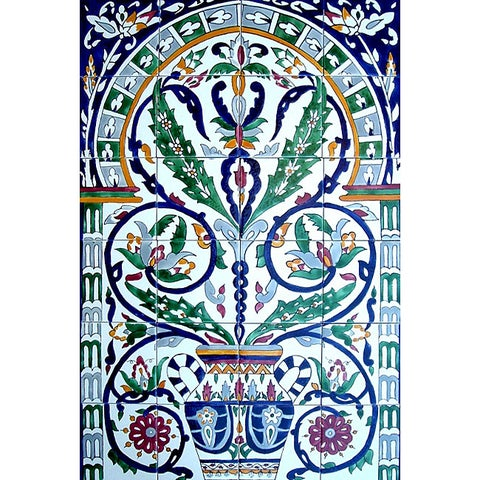 'Moroccan-style Pot' 24-tile Ceramic Wall Mural