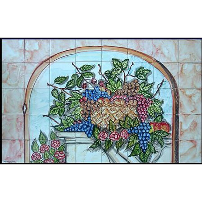 'Splashback Wall Decor' 40-tile Ceramic Mural Art