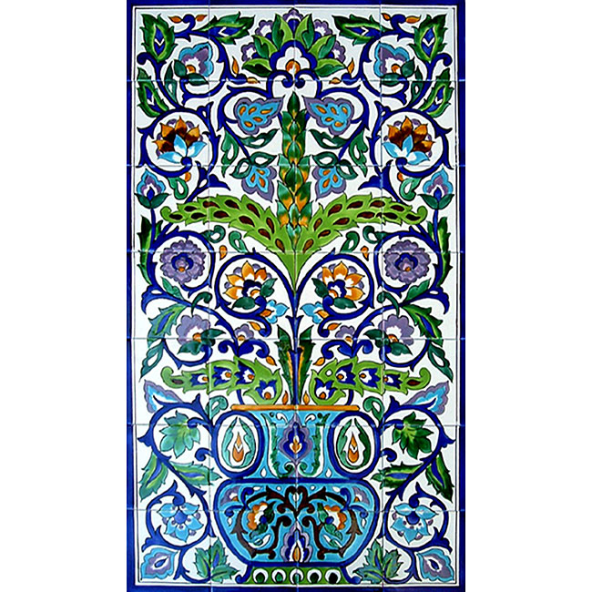 arabesque style wall decor 28 tile ceramic mural free wall mural christmas decorative lace ornament lace
