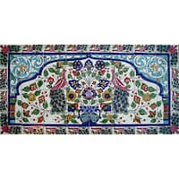 Mosaic 'Peacock' 32-tile Ceramic Wall Mural