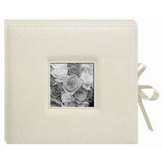 Pioneer Sewn Leatherette Frame Cover 3-ring Cream Photo Box Album with Ribbon Closure|https://ak1.ostkcdn.com/images/products/3834587/P11889827.jpg?_ostk_perf_=percv&impolicy=medium