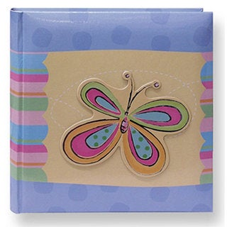 Pioneer 3D Striped Butterfly Applique 4x6 Photo Album