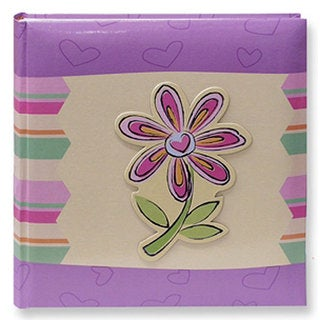 Pioneer 3D Striped Flower Applique 4x6 Photo Album (Pack of 2)|https://ak1.ostkcdn.com/images/products/3834592/P11889822.jpg?_ostk_perf_=percv&impolicy=medium