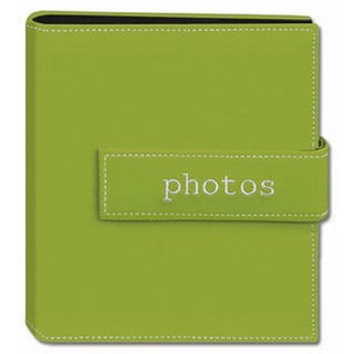 Pioneer Photo Green 4x6 Hook-and-loop Strap Photo Albums (Pack of Two)
