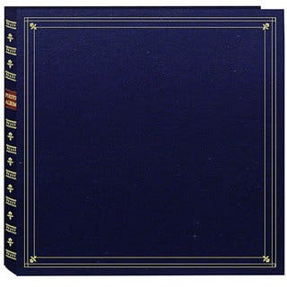 Pioneer Large Format Navy Blue with Gold Accents Cover Memo Album with 120 Bonus Pockets|https://ak1.ostkcdn.com/images/products/3834619/P11889788.jpg?impolicy=medium
