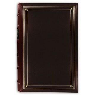 Pioneer 204-pocket 4x6-inch Leather Photo Album + bonus pockets