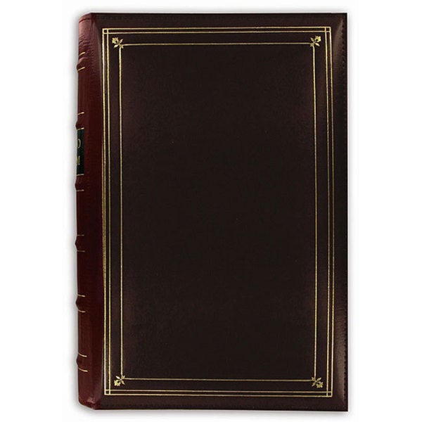 Pioneer 204-pocket 4x6-inch Leather Photo Album + bonus pockets