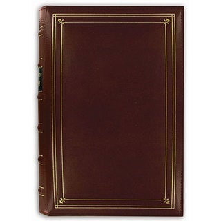 Pioneer European Bonded Red Leather 3-ring Bi-directional Memo Album with 60 Bonus Pockets