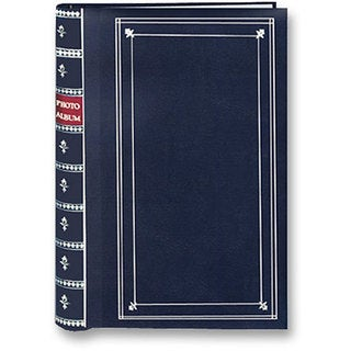 Pioneer Navy Blue Cover Metal Coilbound Bi-directional Memo Albums (Pack of 2)