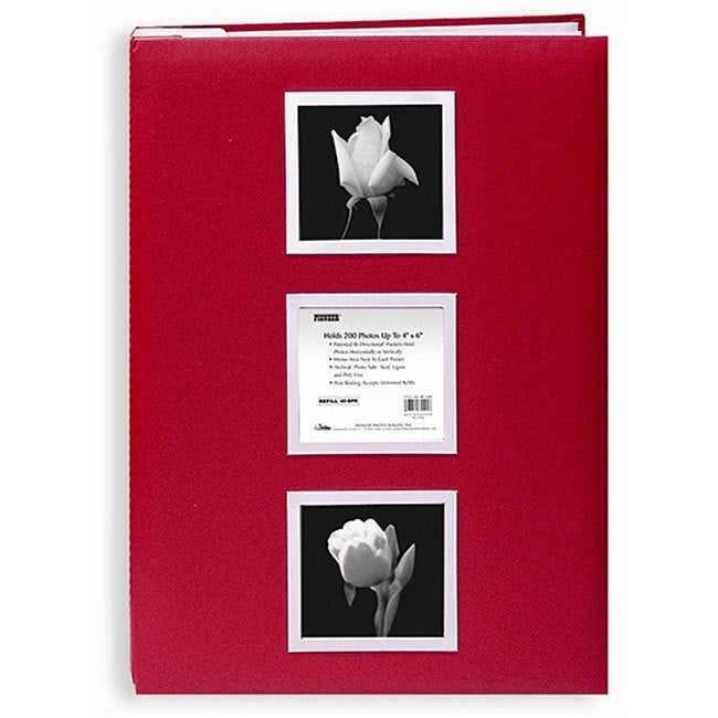 Pioneer Photo Albums Pioneer Red Cloth Cover 4x6 Photo Al...