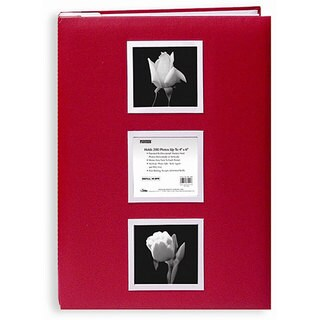 Pioneer Red Cloth Cover 4x6 Photo Albums with 60 Bonus Pockets