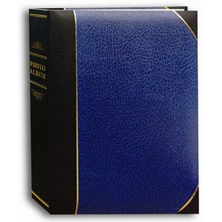 Pioneer Navy Blue Ledger Cover 5x7 Bookstyle Bi-directional Memo Albums (Pack of 2)